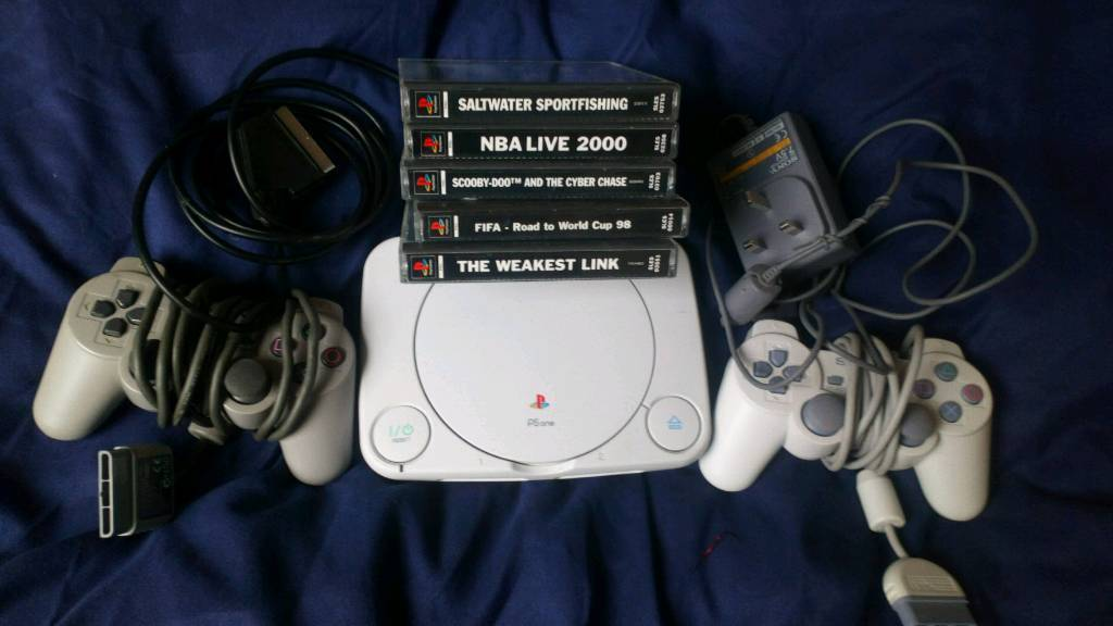 A ps1 slim with games