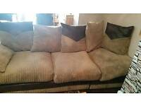 5 seater sofa beige cord