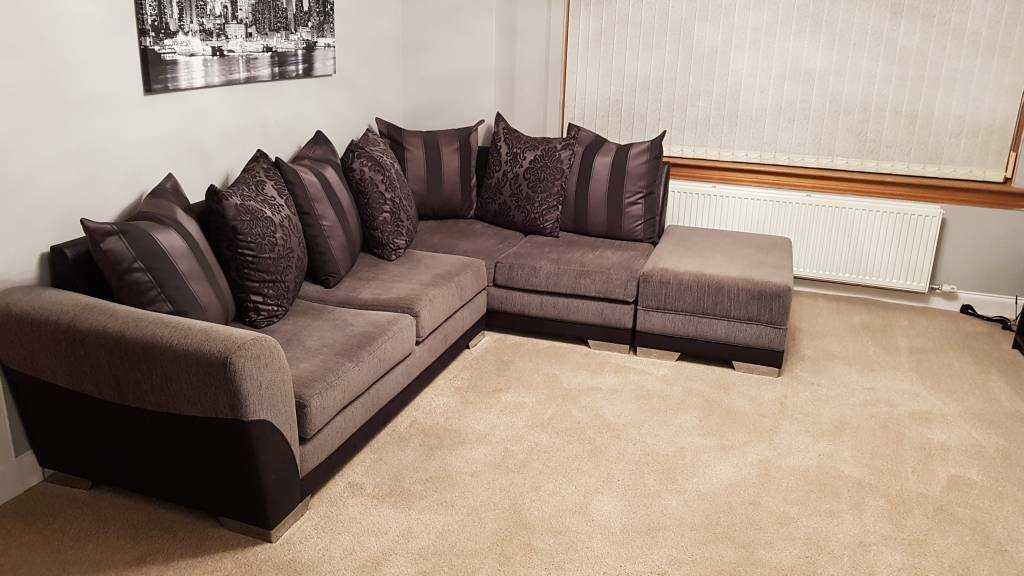 Corner Sofa Swivel Seat And Foot Stool In Westhill