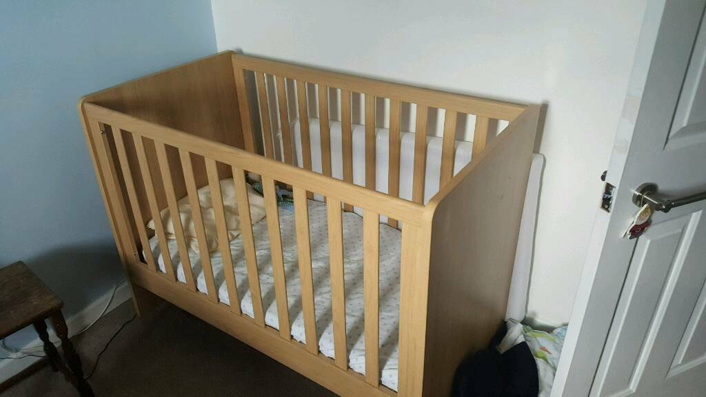 Mamas and Papas Alten Cot, wardrobe and cupboard/change tablein Groby, LeicestershireGumtree - Hi We are selling this set as our boy has moved to a single bed. Mamas and Papas Alten Cot with wardrobe and cupboard/ change table. In very good condition but Cot has a small Mark as seen in photo. There is a mattress aswell if wanted