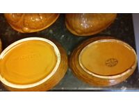 Collection of pottery egg holders