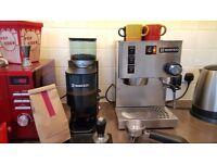 Rancilio Silvia Espresso Machine and RANCILIO ROCKY DOSER COFFEE GRINDER