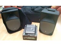 Mackie ProFX8 and Mackie Thump 15A