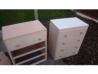 Chest of drawers solid wood x 2 ***LOOK***