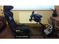 Thrustmaster 500RS Wheel/Pedals/TH8 Gearshifter and Gran Turismo Playseat with quick slide adjuster