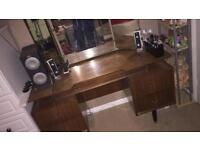 Old lovely dressing table with triple mirror