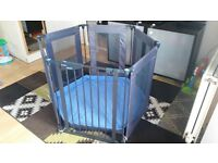 Lindam Safe and Secure Fabric Playpen grey