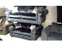 balmoral black shimmer 3/2 suite