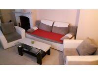 sofa-bed 2 armchair coffee table