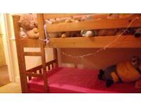 Wooden children's bunk bed good condition