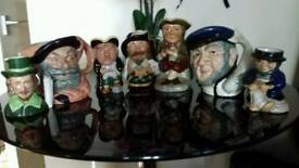 Collection of toby jugs