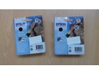Epson black ink T0711 (cheetah design)
