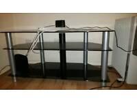 Black glass tv stand very sturdy