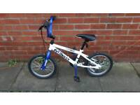 Kids Rooster No mercy BMX. For ages 4 to 7 approx. 16 inch wheels. Good condition ready to ride