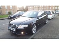 AUDI A4 AVANT 3.0TDI QUATTRO S-LINE (07PLATE) 6 SPEED MANUAL, 115K FSH MINT CONDITION IN&OUT PX
