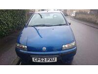 2003 Fiat Punto 1.9 diesel, metallic blue, cheap to run, low milage