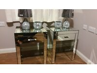 NEXT mirrored bedside tables FREE DELIVERY immiculate condition