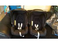 Britax babysafe car seats and belted base