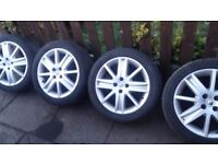 Renault alloy wheels with almost new tyres 4(stud) 205/50/17