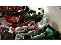 Xmas kids present bikes