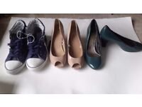 ladies size 5 shoes £3 a pair, excellent condition