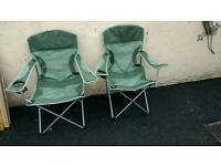 Camping Caravanning Fishing Picnic chairs x 2.