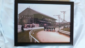 Dunmore stadium greyhound racing track belfast sign 1970s framed quality prints 2 images