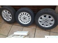 Rover 75 alloys and space saver