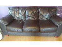 Free leather sofa in dark brown