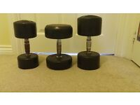 Solid dumbbells (60kg of weight)