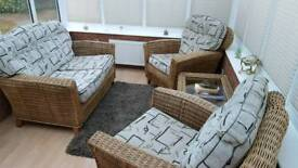 2 Seater Sofa, 2 Matching Chairs and Coffee Table