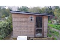 10'x20' workshop/storage space/studio with fitted power sockets and lighting