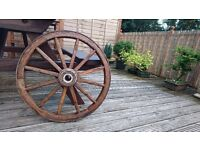 Wagon wheel Original Vintage Antique Genuine old wooden cart wheel