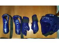 Taekwon-do protective gear and bag.