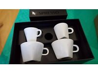 BRAND NEW & UNUSED: NESPRESSO ESPRESSO & CAPPUCCINO CUPS & SAUCERS