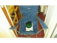 Camping chair and whistle kettle