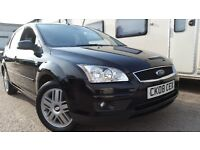 2008 FORD FOCUS GHIA 2.0 PETROL BLACK NEW MOT SERVICED IMMACULATE CONDITION