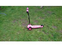 Girls Pink Scooter