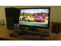 "WOW FAST SSD Dell Optiplex 980 Quad Core Photoshop, Coral Draw Desktop Computer PC With Dell 24"""