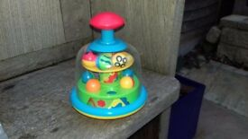 Push and spin baby toy