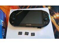 Ps Vita Slim + 3 memory cards