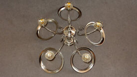 Searchlight American Diner 5 Bulb Ceiling Light in Silver