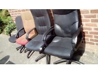 4 swivel office chairs. All work .