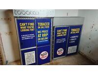 2 x Cigarette Tobacco Display Sliding Door Tobacco Gantry Cabinet