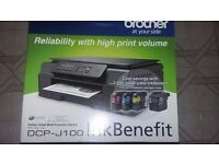 Brother printer/scanner/copier 6 months old used twice excellent condition