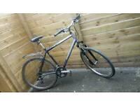 Custom Built Hybrid Bike. Large Steel Raleigh Frame. Shimano gears. Pannier Rack. Great all rounder.