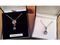 2 x Sterling Silver/Topaz Necklaces