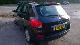 RENAULT CLIO ESTATE 1.5 DCI, FULL HISTORY, 2 Keys, ROAD TAX ONLY £30 PER YEAR, VERY ECONOMIC CAR