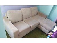 Cream corner suite sofa