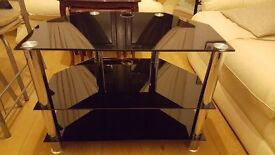 3 shelf Black glass coner TV unit. I have two of these units